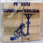 Cunei in legno di pioppo per carpenteria edile