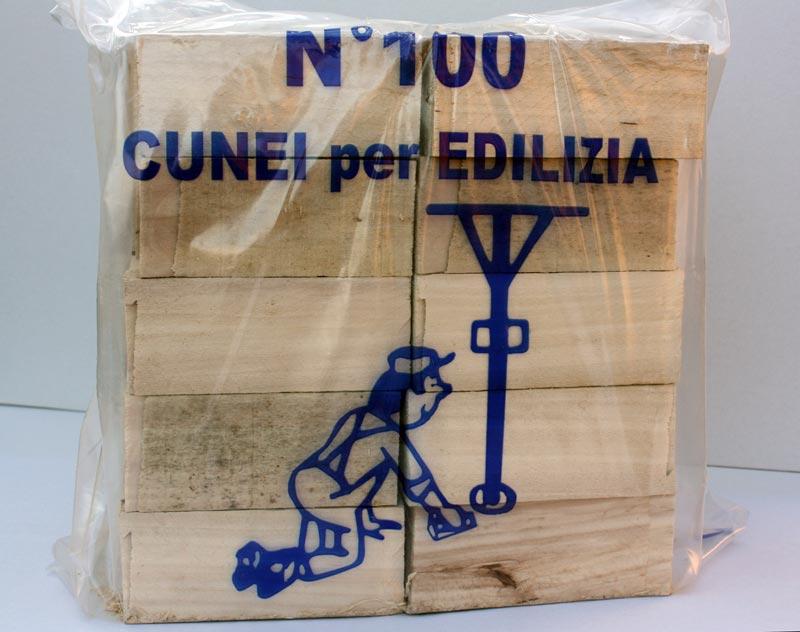 Cunei legno confezione 100 pezzi utensili in legno per edilizia gr rosati - Tavole di legno per edilizia ...