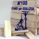 Cunei in legno per fissaggio in lavori edilizia