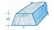Listelli in legno a trapezio per fissaggio parquet a pavimento e tegole in coperture