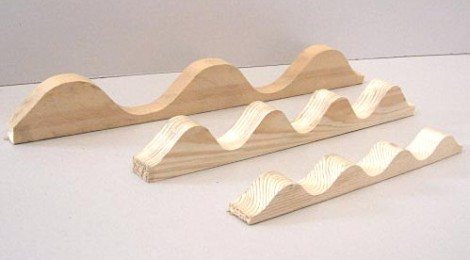 Profil Onda Listello ondulato in legno di abete massello