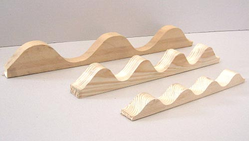 Listelli ondulati profil onda utensili in legno per for Onduline per tettoie