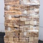 Bancale di cunei in legno per muratori