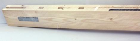 Controtelaio con incastri in legno preassemblato in kit