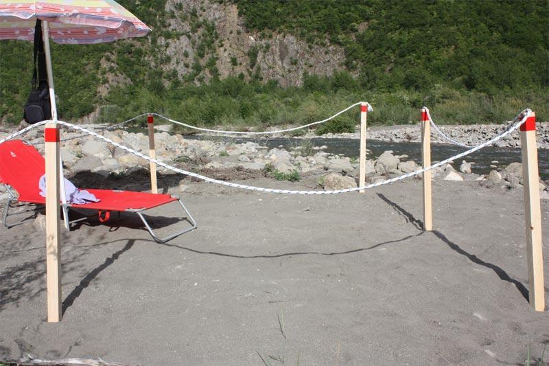 Picchetti in legno, utilizzi in spiaggia
