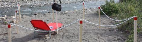 Picchetti in legno ideali per delimitare spiagge e terreni