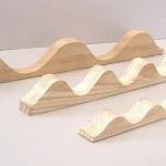 Profilo in legno ondulato per tettoie e coperture in ondulina